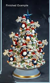 large 14 inch penguin lighted tabletop christmas tree unpainted