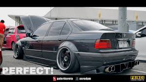 kereta bmw bmw e36 hamann slammed race day thailand 2017 youtube