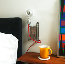 Bedside Table With Lamp Attached 5 Simple And Inventive Diy Bedside Table Lamps