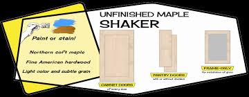 how to stain unfinished maple cabinets maple shaker cabinet doors