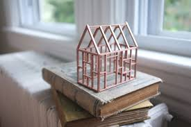 House Frame Small Rose Gold Birch Frame House Exposed Painted Wood