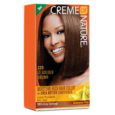 light golden brown hair color creme of nature moisture rich hair color light golden brown
