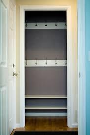 remodelaholic reinterpreting the hall closet to a mini mudroom