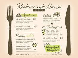 restaurant menu templates free download word word lesson plan