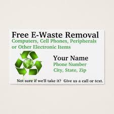 E Business Cards Free Free E Waste Removal Business Card Zazzle Com