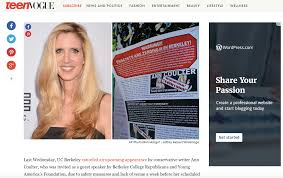 berkeley students share what they think of ann coulter u0027s planned