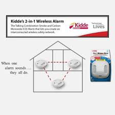 kidde 2 in 1 battery operated wireless interconnected combination