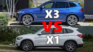 2018 bmw x3 vs bmw x1 youtube