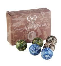 golf genius novelty gift set of 6 novelty camouflage golf balls