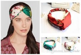 bohemian headbands 2018 2016 women bohemian headbands satins print crossed headbands