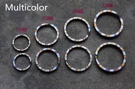 titanium key rings images Multicolor titanium alloy edc ultra light key hanging key ring diy jpg