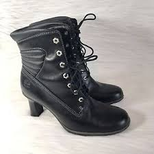 womens high heel boots size 9 timberland black leather high heel boots size 9 5m