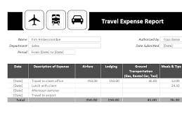 Expense Report Excel Template Travel Expense Report Template Templates I