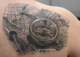 3d Compass Tattoos Small Direction Compass Idea By Grey Ink Golfian Com
