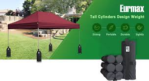 Awning Weights Amazon Com Eurmax Weight Bags For Pop Up Canopy Outdoor Shelter