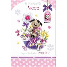 birthday cards for niece to a wonderful niece birthday card karenza paperie