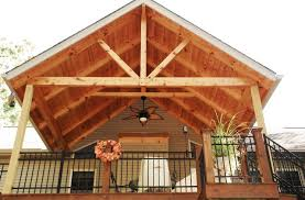 ffg timber frame deck cover rustic deck other by sunset