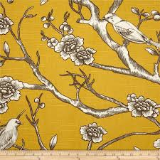 Home Decor Weight Fabric by Puffin Fabric Upholstery Fabric Curtain Fabric Bird Fabric