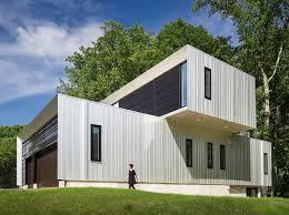 aluminum clad bridge house is a multi generational home optimized