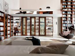 Home Library Furniture Amazing White Home Library Design With - Amazing home interior designs