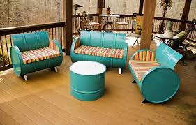 repurposed dining table 12 creative uses of old drums throughout the home