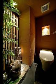 japanese home decor with bamboo and water fountain interior