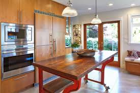 retro kitchen island industrial kitchen island designs for retro look of the kitchen