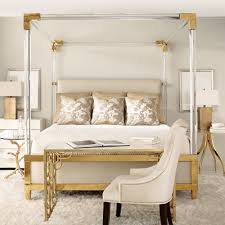 acrylic canopy upholstered king bed featuring this product
