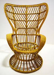 casa e giardino fauteuil en rotin par lio carminati pour casa e giardino 1950s en