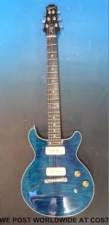 light blue gibson les paul a gibson les paul dc pro guitar with ebony finger board snake head
