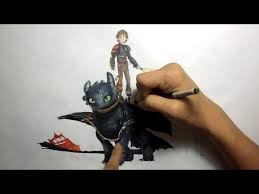 drawing hiccup toothless train dragon 2
