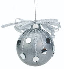 nicole crafts silver mirror ball ornament ornaments craft