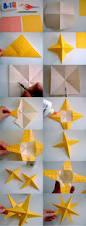 decoración de navidad con papel doblado y enrollado origami