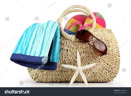 flip flop bag bag towelsunglasses flip flops stock photo 55908190