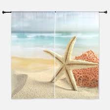 Sea Shell Curtains Seashell Window Curtains U0026 Drapes Seashell Curtains For Any Room