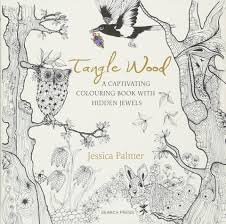 tangle wood a captivating colouring book with hidden jewels