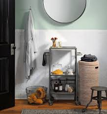 small bathroom storage wall mounted square glass mirror stainless