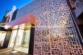 modern design perporated laser cut metal garden screens for