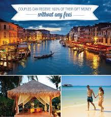 wedding registry for travel wedding registry honeymoon travel packages