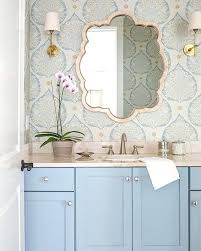blue tile bathroom ideas blue bathroom wallpaper pastel blue vanity with wallpaper dreamy