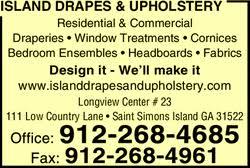 Simons Upholstery Island Drapes U0026 Upholstery Saint Simons Island Ga 31522