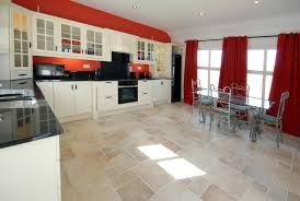 Red Kitchen Table And Chairs Elegant Floor Tile And Red Window Curtain Feat Black Kitchen