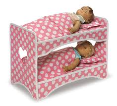 Badger Double Doll Travel Case With Bunk Bed And Bedding Dark Pink - Dolls bunk bed