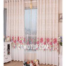 Country Porch Curtains Pink And Beautiful Floral Thermal Country Porch