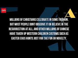 do they celebrate easter in china