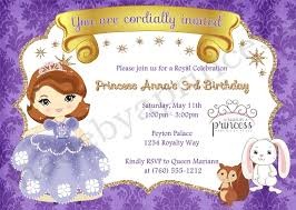 sofia birthday party invitation