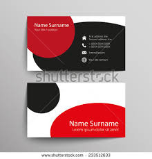 Simple Business Cards Templates Modern Simple Business Card Template Vector Stock Vector 233512633