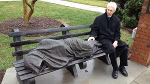 statue of a homeless jesus startles a wealthy community npr