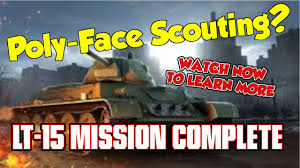 world of tanks poly face scouting lt 15 personal mission