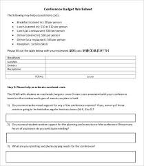 conference budget template 7 free word pdf documents download